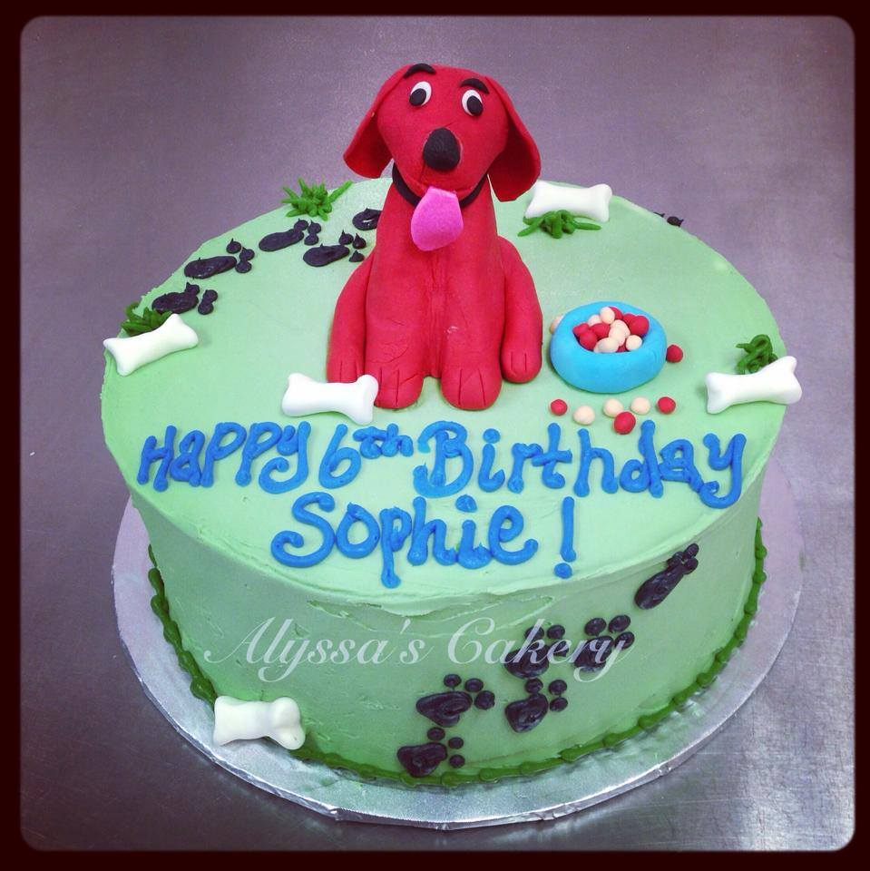 Clifford The Big Red Dog Alyssas Cakery