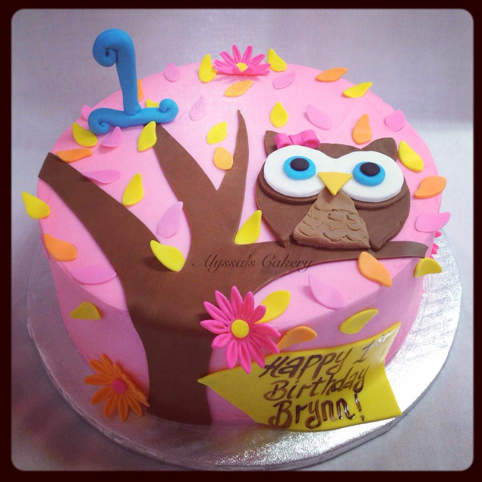 Terrific Owl 1St Birthday Alyssas Cakery Birthday Cards Printable Riciscafe Filternl