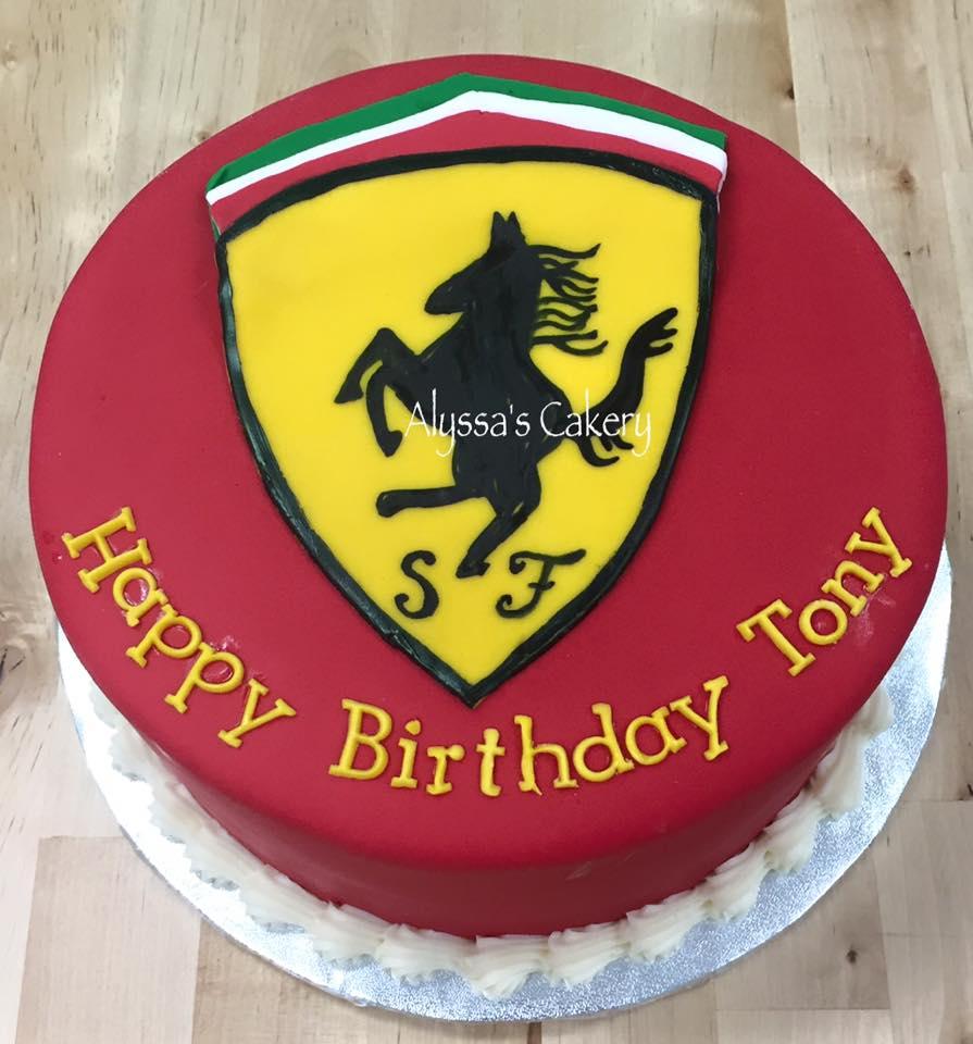 Cool Ferrari Birthday Cake Alyssas Cakery Funny Birthday Cards Online Ioscodamsfinfo