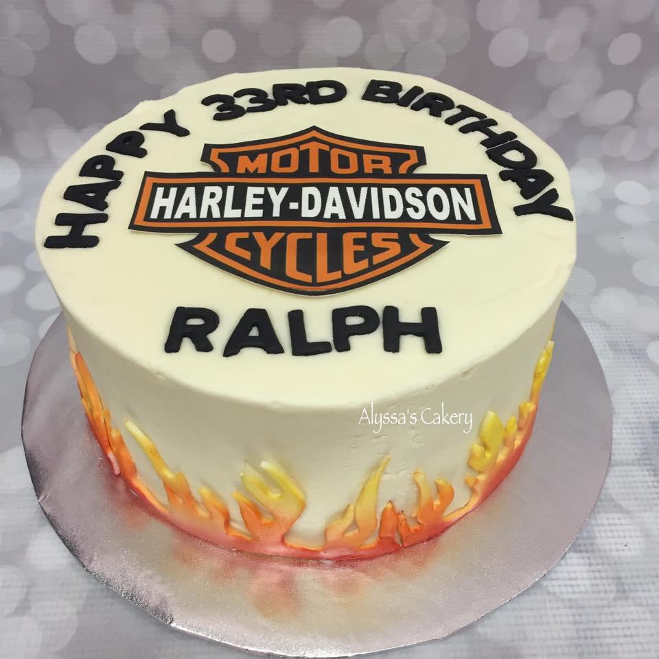 Pleasant Harley Davidson Birthday Cake Alyssas Cakery Personalised Birthday Cards Paralily Jamesorg