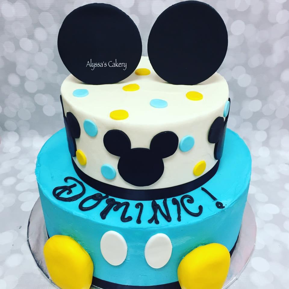 Mickey Mouse Birthday Cake Alyssas Cakery